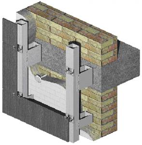 Алюминиевая подсистема навесных вентилируемых фасадов для облицовки керамогранитом с видимым креплением   Doksal DVF 11