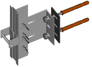 Алюминиевая подсистема навесных вентилируемых фасадов для облицовки алюминиевыми композитными панелями со скрытым креплением   Doksal DVF 21